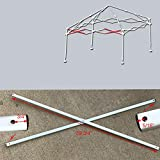 Ozark Trail Coleman First Up 10 X 10 Canopy Gazebo Side Truss Bar 39 3/4' Replacement Parts White