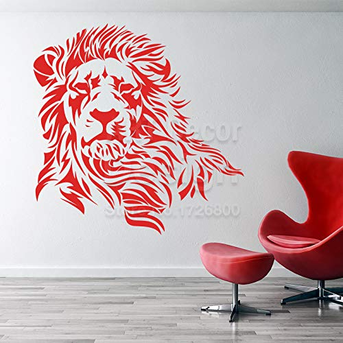 AWQR Löwe Wandaufkleber Wohnkultur Vinyl Tier Wandtattoo Hausdekoration Cartoon abnehmbar -in Wandaufkleber von zu Hause