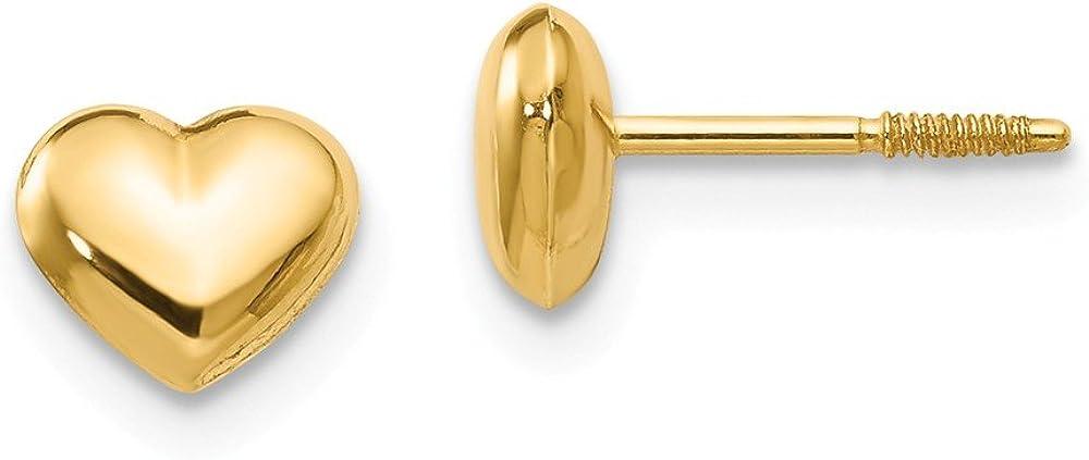 14K Yellow Gold Madi K Sm. Puffed Heart Earrings