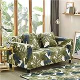 Funda de sofá elástica con Todo Incluido para Sala de Estar Funda de sofá con Estampado Floral Moderno Flexible Fundas para sofá A17 de 3 plazas
