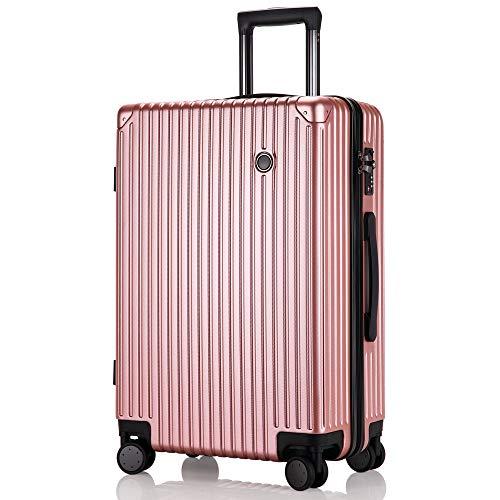 レーズ(Reezu) スーツケース 超軽量 機内持込み キャリーバッグ 8輪 静音 キャリーケース TSAロック付 キャリーバック Sサイズ/Mサイズ/Lサイズ ファスナー式 小型 人気色 ビジネス 旅行 安心の1年保証 ローズゴールド rose gold
