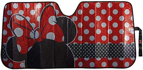 Plasticolor 003831R01 Disney Minnie Dots Foil Accordian Sunshade for Car Truck or SUV product image