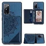 für Xiaomi Redmi K40/ K40 Pro/Xiaomi Poco F3 Handyhülle Handytasche Totem Muster Hülle Case PU Leder Flipcase Tasche Schutzhülle Ständer Geldklammern Magnet Klapphülle Schale Bumper hardcover Blau