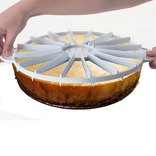 Lacor?10?12porciones Double-Sider Tarta Marcador, Color Blanco
