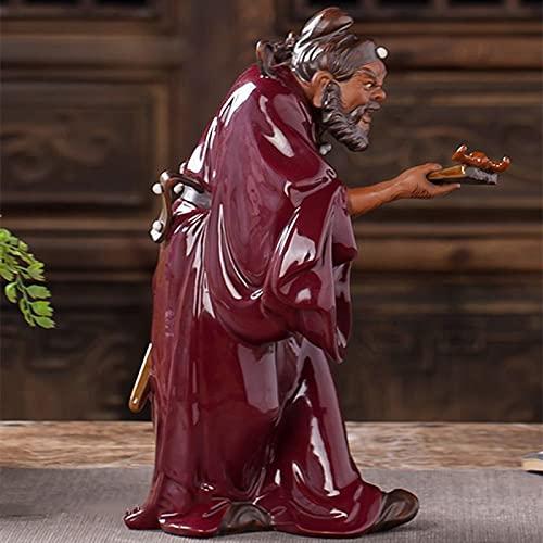 LYQZ Estilo Chino Creativo Zhongkui Art Sculpture Heavenly Master Statue Artesanía de cerámica Decoraciones para la Oficina de Escritorio del hogar
