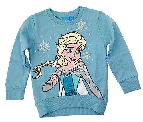 Disney Sudadera, jersey, parte superior de Frozen, azul claro, turquesa (128 cm/8 años)