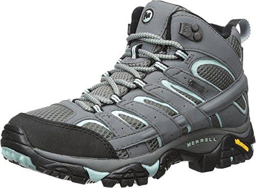 Merrell Moab 2 Mid GTX, Stivali Da Escursionismo Alti Donna, Grigio (Sedona Sage), 40 EU