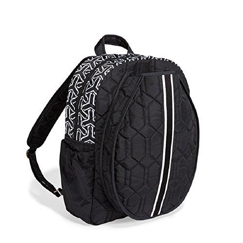 cinda b. Tennis Backpack, Jet Set Black, One Size