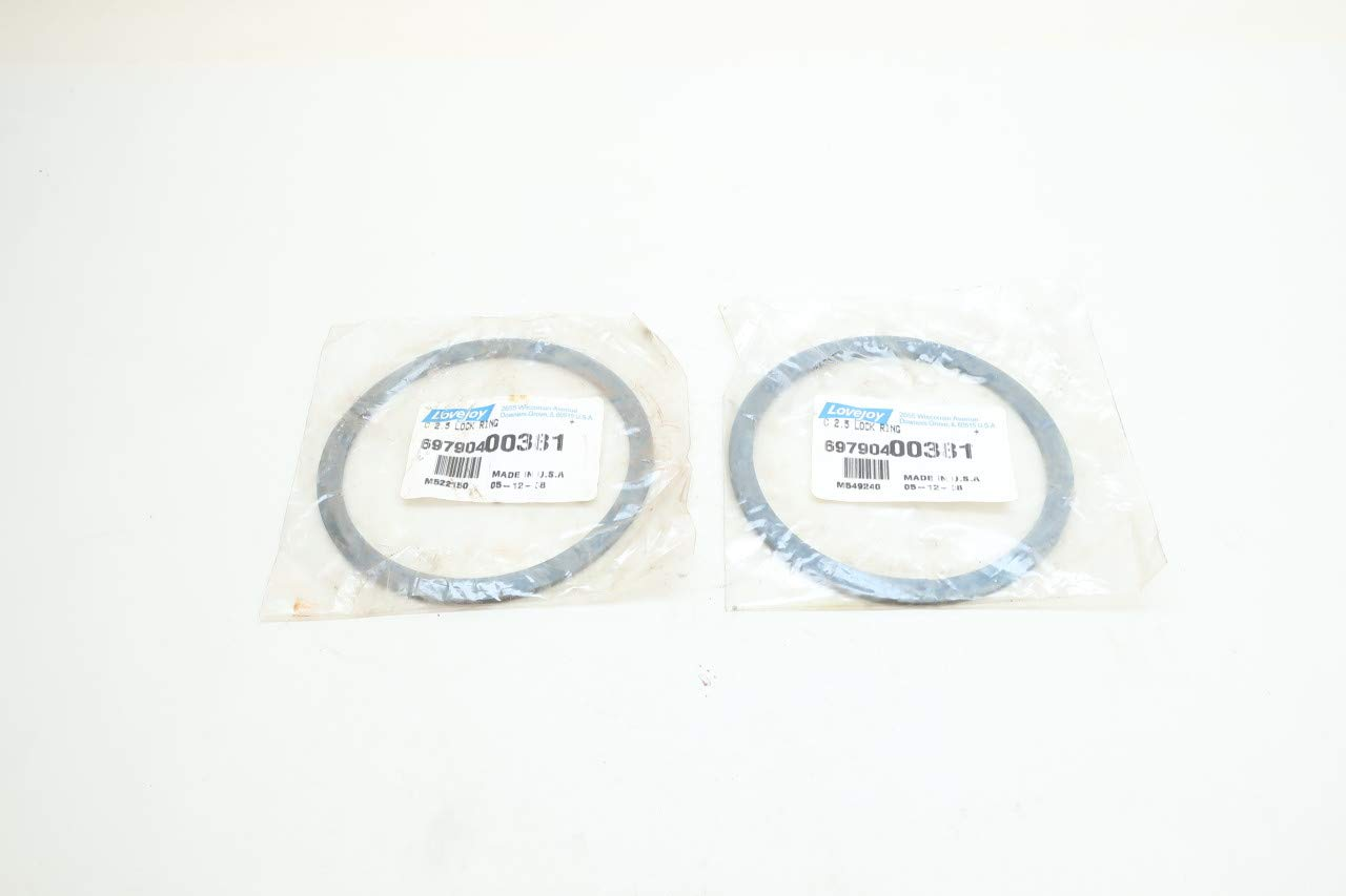 Set of 2 LOVEJOY 69790400381 Coupling C2.5 Lock Ring STD