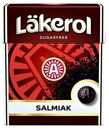 4 cajas x 25 g de Läkerol Salmiak - Stevia - Original - Sueco - Sin Azúcar - Regaliz Salado - Pastillas, Pastillas, Pastillas, Gotas - Dragees - Caramelos - Dulces