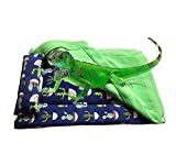 Reptile Sleeping Bed with Blanket and Pillow,Reptile Accessories,Solf Fabric Warm Sleeping Bag for Bearded Dragon,Lizard,Leopard Gecko and Small Pet Animal (Green)