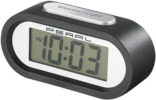 PEARL Despertador más Suave Tono de Alarma: Radio Reloj Despertador LCD con Tono de Alarma Individual DAC-438 Voice (Despertador con Agradable Tono de Alarma)
