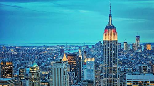 nobrand Puzzle 1000 Pezzi di Puzzle Empire State Building per Bambino Adulto