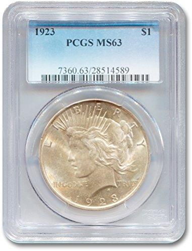 1923 Peace Dollar MS-63 PCGS