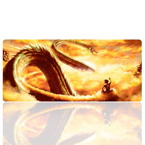 Ruifengsheng Large Gaming Mouse Pad ,Extra Large Size Mat,Extended XXL Size Mouse Pad, Non-Slippery Rubber Base,(Edge Stitched) (35.4' 15.7') (90x40 R8)