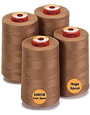 New brothread - 28 Opties - Grote Kegels van 5000m polyester naaigaren voor alle doeleinden 40S/2 (Tex27) voor naaien, quilten, patchwork, serger en overlock