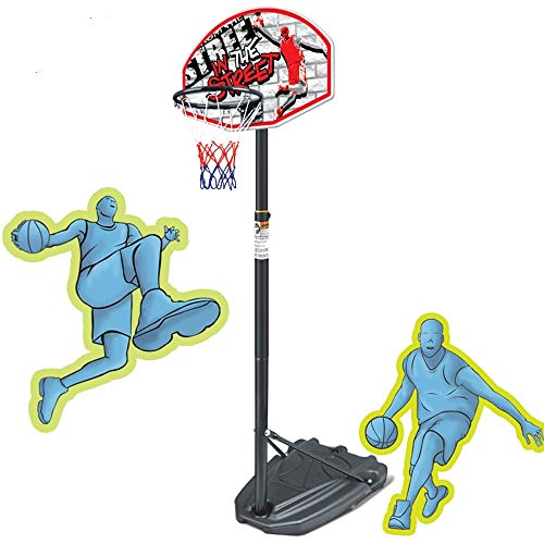 DERTHWER Basketball Stand, Kids Adjustable Protable Basketball Set,Children's Basketball Rack Toys Can Be Raised and Lowered Indoor Indoor Sports Toys for Kids Easy to Adjust
