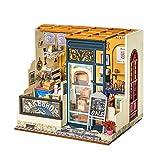 FZ FUTURE DIY Bois DE PLASS Mousse DE DOUCHES DE DOLLES Miniatures avec Meubles, Appartement FAITEMENT Main FAÇON Assemblage Villa MODÈLE Modèle Jouets,Nancy's Bakery