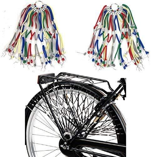 Retina/Paraveste Elastica per Bicicletta (Coppia) - Scegli Il Colore (Arcobaleno)