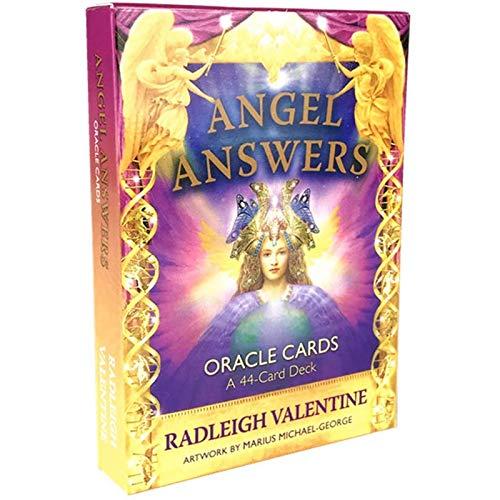 YOYOTECH Angel responde la baraja de Tarot en versión Completa en inglés con Juegos de Cartas EGuide Book con Instrucciones electrónicas Destiny Fortune Telling Game Cards