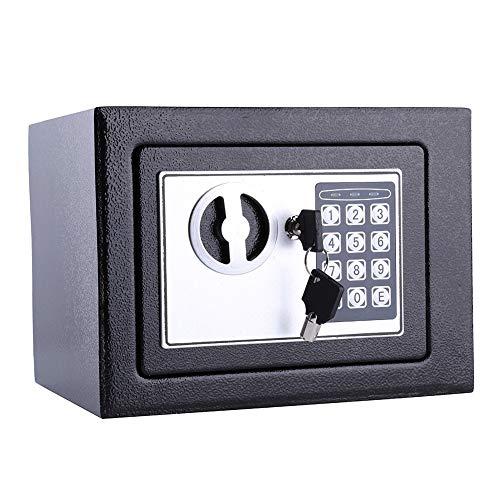 Victool Möbeltresor, Tresor Safe Hometresor mit Elektronik Zahlenschloß Schlüssel Tresor Wandtresor für Büro Zuhause (6.4L)