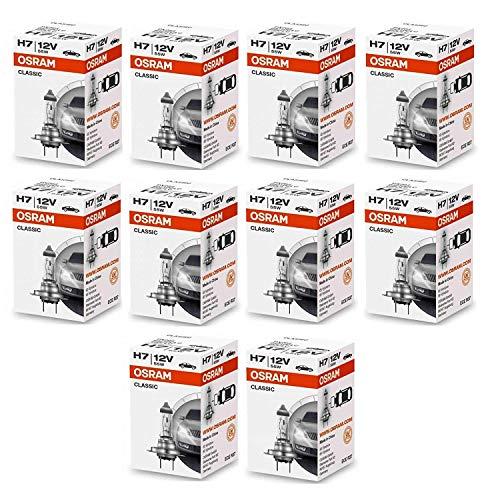 Osram 64210 H7 PX26d - Lote de bombillas para coche (12 V, 55 W, 10 unidades)