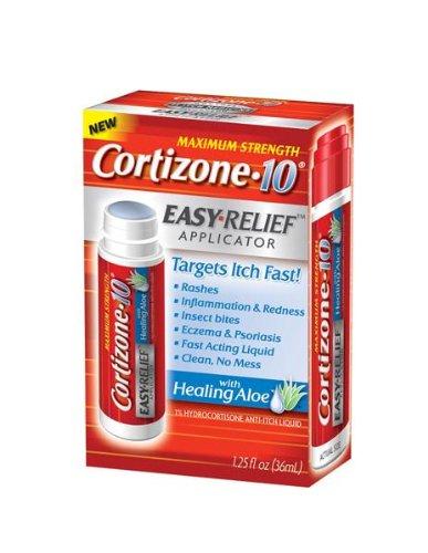 Cortizone 10 With Healing Aloe Easy Relief Applicator 1.25 oz., Maximum Strength 1% Hydrocortisone Anti-Itch Liquid