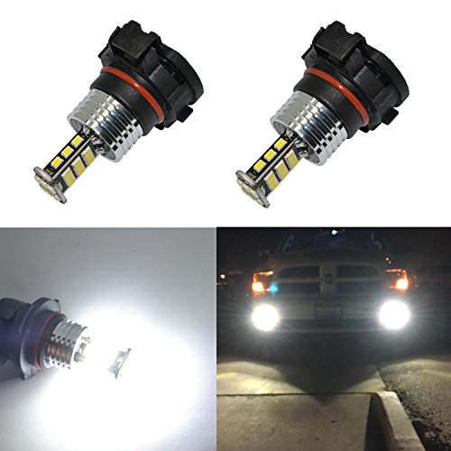 Alla Lighting Super Bright 5202 5201 LED Fog Lights Bulbs 2000 Lumens 3020 30-SMD PS19W 12085 PS24WFF Replacement for Cars,Trucks, 6000K Xenon White