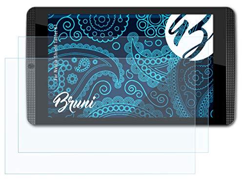 Bruni Schutzfolie kompatibel mit Nvidia Shield Tablet K1 Folie, glasklare Bildschirmschutzfolie (2X)