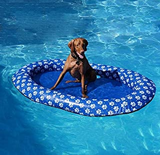 Volwco Dog Pool Floats for Large Dogs, Portable Dog Swimming Pool Toy for Pool Float Inflatable Raft Pet Swim Pool for Small Puppies and Adults Cool Down in Summer Doggy Fun 55'' x 35''