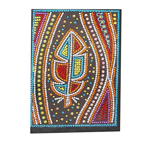 DIY 5D Diamond Painting cuadernos bonitos A5 con diamantes hojas en blanco, cuaderno de viajeros,diario niña diario secretocuaderno de notas bloc de notas pequeño regalo creativo