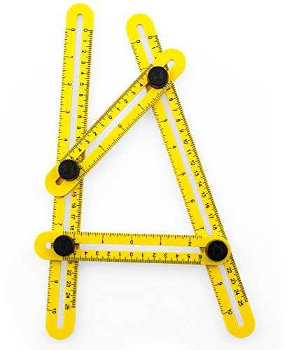 Template Tool | Multi Angle Measuring Ruler for Carpenter, Handyman, Builder | Angle Measuring Tool for Cutting Tile |DIY Tool for Home and Pro Projects by Woodruff Industries