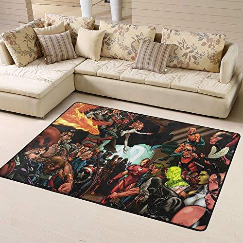 Zmacdk Avengers Infinity - Alfombra para dormitorio infantil (180 cm x G270 cm), diseño de Iron Man