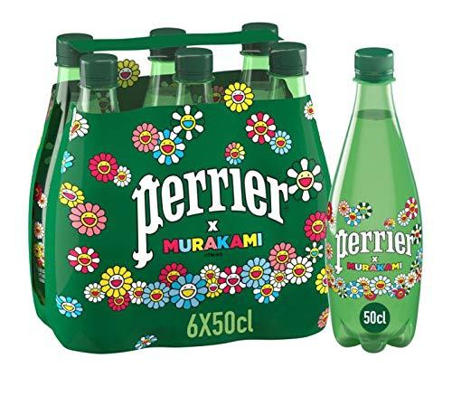 Perrier - Agua con Gas - Edicion Limitada - Diseño de Murakami - Pack de 6 Botellas de 500 Ml