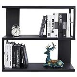 WELLAND 32' Morden Floating Bookshelf 3-Tier Bookcase Wall Mounted Shelf CD DVD Storage Display for Office, Bathroom, Kitchen,Livingroom(Espresso)