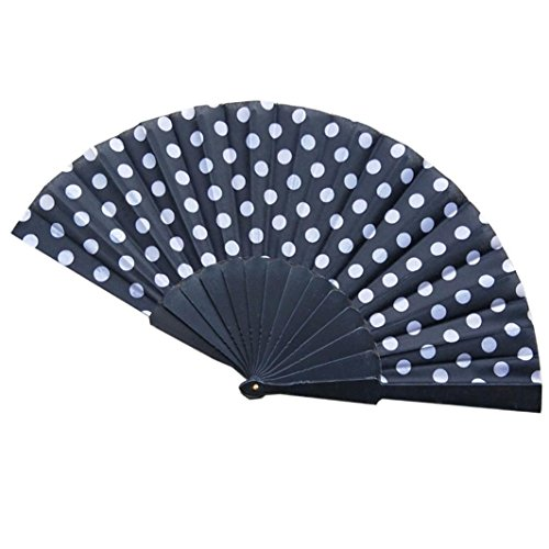 Longay Chinese Folding Silk Hand Fan Hand Craft Fan Wedding Favors Gift (G)