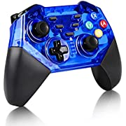 Pro Controller For Nintendo Switch,KINGEAR Wireless Controller Remote Gamepad Compatible with Nintendo Switch Console, Supports Gyro Axis Function & Dual Shock (blue)