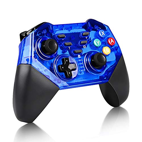 KINGEAR Wireless Controller for Nintendo Switch, Pro Wireless Controller Gamepads for Switch and Windows PC-Blue, KINGEAR 8579