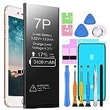 Batería de Repuesto para iPhone 7 Plus, EVARY 3400mAh Batería Recargable de polímero de Litio de Alta Capacidad y 0 ciclos con Kit Completo de Herramientas de reparación Compatible con iPhone 7P