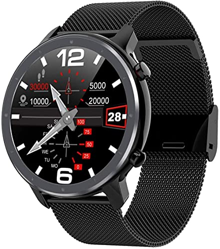 L11 Android Smart Watch Ios Ropa para Hombre 1 3 TFT Full Round 360 * 360 Frecuencia Cardíaca Yoga Múltiples Deportes Smartwatch Impermeable IP68-Negro