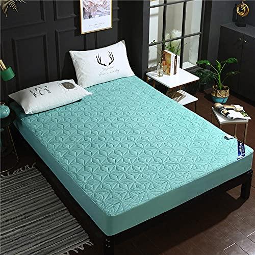 CYYyang Funda colchón Microfibra, elástica y Ajustable, Sábana Impermeable de Color Puro orina-Frijol Green_150 * 200cm