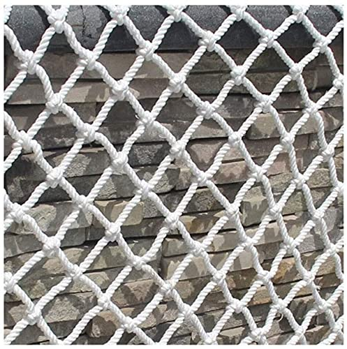 LIUNA Balcony White safety net Safety Net, Child Safety Net Stair Safety Net Durable Banister Guards for Kids Safety for Indoor Stairs Rails Cribs Balcony (Size:6mm thick, 8cm hole)