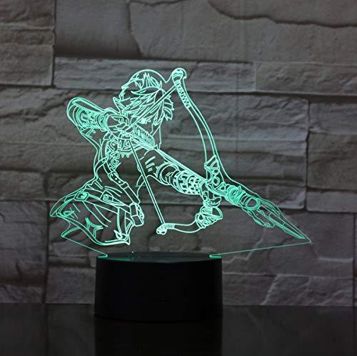 Kinder Led Nachtlicht Link Figur Die Legende Von Zelda Nachtlicht Für Kinder Schlafzimmer Usb Farbe Ändern Led Nachtlampe 3D