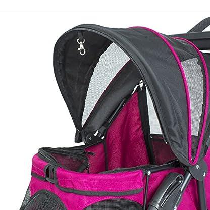 PETIQUE Razzberry Pet Stroller, Razzberry, One Size (ST01100103) 6
