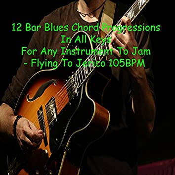 12 Bar Blues Chord Progressions in All Keys for Any Instrument to Jam (Flying to Jerico 105bpm)