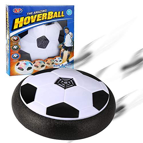 Parsion Juguete Balón de Fútbol Flotante, Air Soccer Ball con Luces LED, Air Football con Parachoques de Espuma, Formación en Casa, Niños Deportes [Nuevo Modelo] (Black)