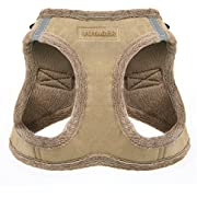 "Voyager Step-In Plush Dog Harness - Soft Plush, Step In Vest Harness for Small and Medium Dogs by Best Pet Supplies - Latte Suede, Small (Chest: 14.5"" - 17"") (206-LT)"