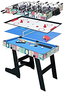 HLC Multi Function 4 in 1 Combo Game Table,Soccer Foosball Table, Pool Table,Hockey Table,PingPong Table
