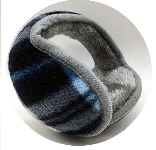 GJJSZ Orejeras cálidas de Invierno Lana Polar Lisas Orejeras Ajustables para Hombres y Mujeres