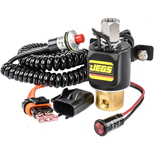 JEGS Stage Control Kit | Brass | 2-Port Control Valve | Made in USA | Includes Solenoid Valve, Micro Switch With Cord, 4-Amp Fuse With Holder, and Red LED Indicator Lamp